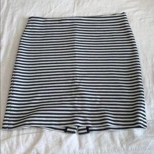 PETITE Talbots Knit Striped Pencil Skirt 14P